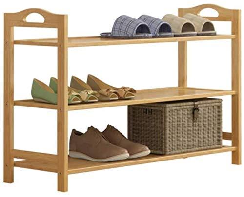 LIUYULONG Taburete cambiador de zapatos moderno minimalista hogar zapatero asequible dormitorio marco de entrada sala de tres pisos zapatero estante 70x26x55cm escaparate