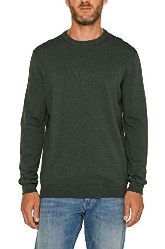 ESPRIT Herren 999Ee2I803 Pullover, Grün (Dark Green 300), X-Large (Herstellergröße: XL)