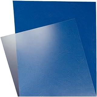 Leitz Tapas de encuadernación A4, Pack de 100, 250 micras, Acabado brillante, Transparente, 33682