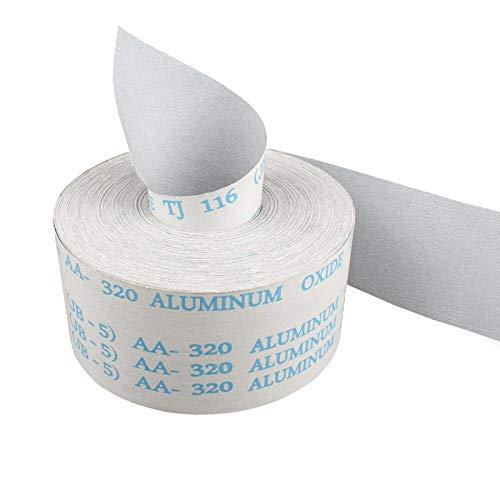 Rouleau abrasif 4 pcs 1M rouleau abrasif Tissu émeri 120 à 600 grès Largeur d'oxyde d'aluminium 100mm Papier de verre déchirant pour le ponçage de broyage en métal en bois Rouleaux de papier abrasif