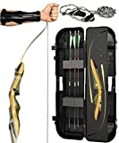 Spyder Takedown Recurve Bow - Ready 2 Shoot Archery Set | Includes Bow, Instructions, Premium Carbon Arrows, Recurve Bow Case, Stringer Tool, Armguard, 35 lb RH -Green