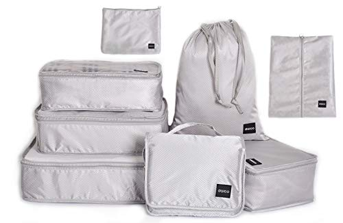 Dalco Packing Cubes Waterproof Various Sizes (Set of 8) Light Grey