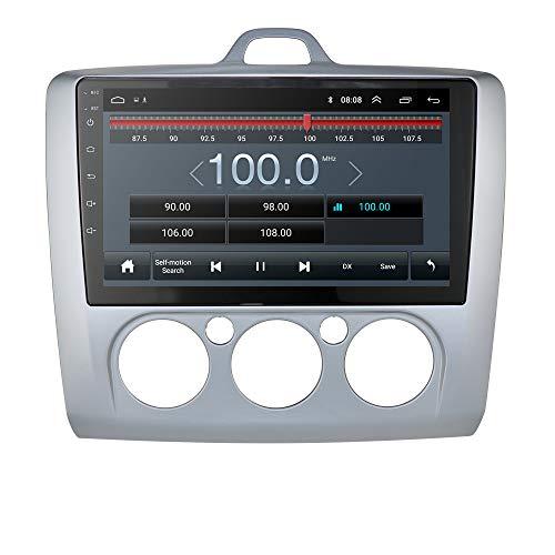 Android 9.0 Car Navigation La Radio del Coche es Compatible con Bluetooth WiFi Mirror-Link USB Control del Volante Ajuste para Ford Focus Exi MT 2 3 MK2 / MK3 2004 2005 2006 2007 2008 2009 2010 2011