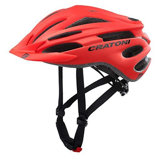 Cratoni Helm Pacer MTB Rot Matt Größe L/XL 58-62 Material Fahrrad Unisex Erwachsene Rojo