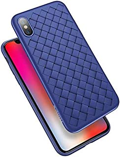 Phone Case for FLOVEME Grid Case for iPhone XS MaX accessories blue
