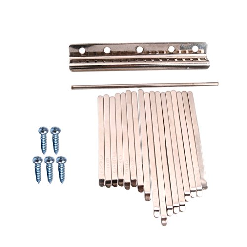 17 Notas Kalimba Mbira Pulgar Piano Acero Inoxidable Llaves Instrumento de Percusión