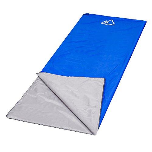 Terra Hiker Saco de Dormir por 3 Temporadas, 750g, Ultra-Compacto y Ligero, 8 °C - 15 °C, 195 cm x 75 cm, para Viajes, Camping, Senderismo, Escalada (Azul oscuro)