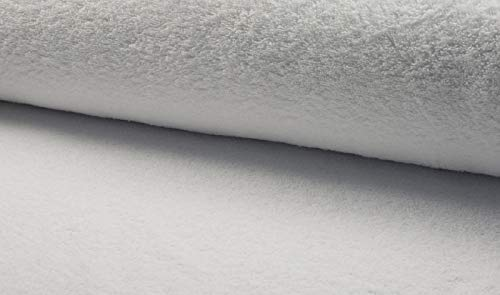 Die Stofftante Frottee, Uni, weiß 50x160 cm Meterware