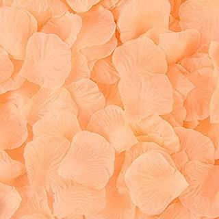 Sorive 3000 Pieces Dark Red Silk Rose Petals Artificial Flower Petals for Wedding Confetti Flower Girl Bridal Shower Hotel Home Party Valentine Day Flower Decoration (Peach)