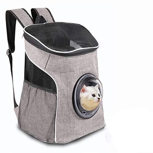 YINGJEE Haustier Rucksäcke für kleine Hund und Katzen Hunderucksack Katzenrucksack mit Oben offen Weiche Seite Atmungsaktives Netz zum Wandern, Radfahren & Outdoor Reisen im Freien
