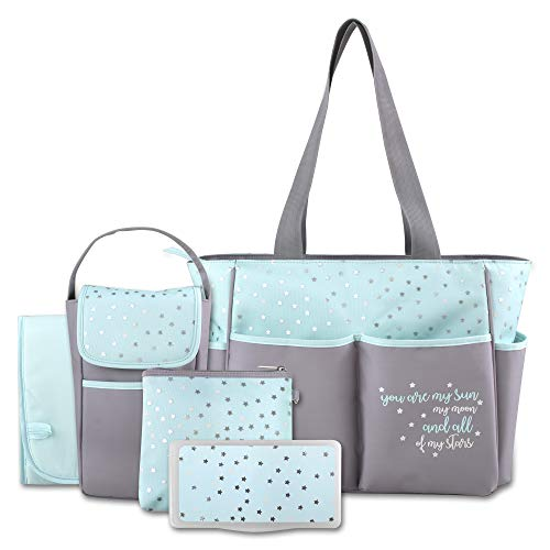 Diaper Bag Tote 5 Piece Set with...
