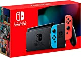 Nintendo 32GB Switch with Neon Blue & Neon Red Joy-Con Controllers - with SanDisk 128GB UHS-I microSDXC Memory Card for The Switch