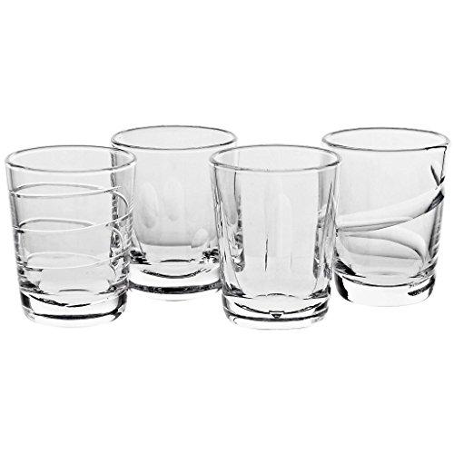 4er Set Whiskeybecher Whiskeyglas Whisky Glas Julie 250 ml Schliffe Verhindern das Vertauschen