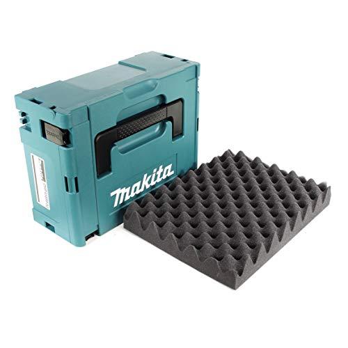 Makita MAKPAC 2 Systemkoffer - mit Universaleinlage für Makita 18 V Akku Geräte Schrauber Sägen Schleifer