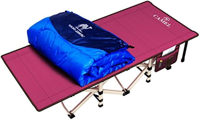 SjYsXm-Sunloungers Wein Rot Klappbett Einzelbett Büro Siesta Bett Doppelbett Leinwand Camp Bett Krankenhaus Bett Gstebett mit Aufbewahrungstasche (gre   Folding Bed+Sleeping Bag)