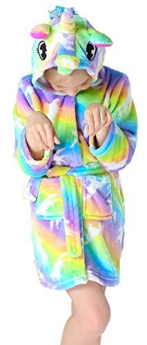 Slenily Girls Soft Unicorn Hooded Bathrobe Sleepwear Baby Kids Unicorn Gifts