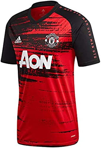 adidas Manchester United FC Pre Match 2020-2021, Camiseta, Real Red-Black