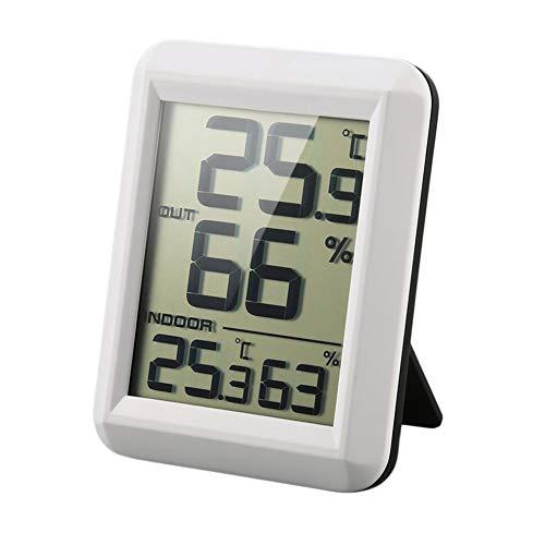 WMC Digital LCD Funk-Thermometer, Hygrometer mit Transmitter Temperatur-Feuchtigkeits-Test Metern Wetterstation Haushalts-Thermometer und Hygrometer