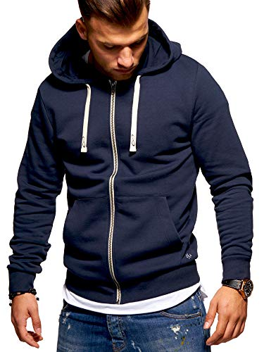 JACK & JONES Herren Sweatjacke Hoodie (XX-Large, Total Eclipse)