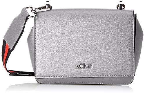 s.Oliver (Bags Damen City Bag Umhängetasche, Grau (Light Grey), 8x14x17 cm