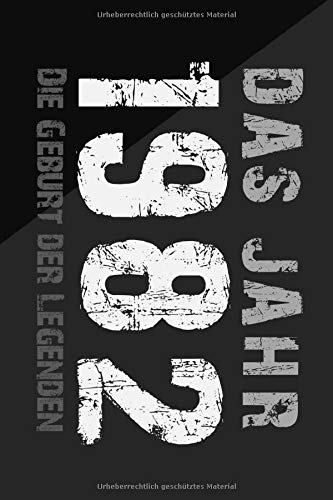 Das Jahr 1982 die Geburt der LEGENDEN:: Notizbuch a5 kariert, Geburtstagsgeschenkidee für Männer und Frauen, Erwachsene oder Junge, Journal Sketchbook Tagebuch. Notebook.1 geburtstag geschenk