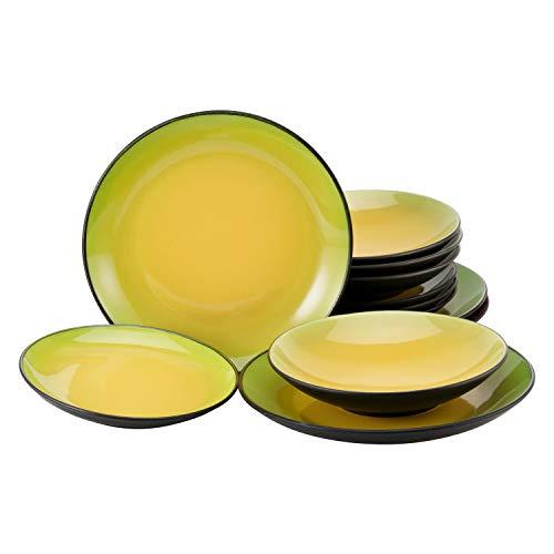 Creatable 20229 Hot Green - Vajilla (12 piezas), color verde