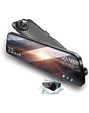 JADO ドライブレコーダー ミラー型 前後カメラ 12インチ 右ハンドル仕様 2.5K解像度【最新Sony415センサー】 GPS搭載 常時録画 32GB SD卡付 170°超広角 駐車監視 WDR 暗視機能 防水構造 日本語説明書 大広角レンズ前後カメラ ミラー どら いぶ レコーダー ドライブ レコーダー ドラレコ タイムラプス動画 日本語説明書