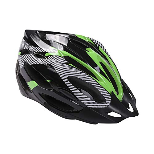Casco de Bicicleta para Adulto Casco Bici Protector Ligero de Ciclismo con Correa Ajustable y Visera Desmontable para Montar Protección de Seguridad Unisex para Carretera Montaña (Verde , Talla Única)