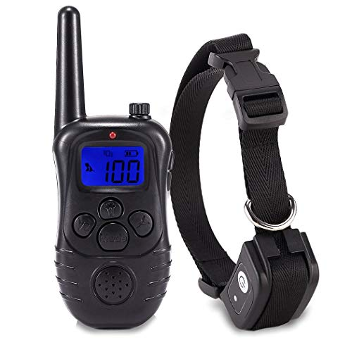 GWT Anti-bark Dog Training Kit Shock Collar for Dogs Waterproof, Rechargeable Dog Shock Collar with Remote No Harm Dog Training Collar Fast Training Effect for Small Medium Large Dogs,Black