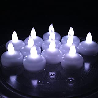 Floating Candles,IMAGE Flameless Floating LED Tea Lights 12 Pack Waterproof Tealight Candles for Wedding Party Spa Home Indoor Outdoor Decor-Cool White