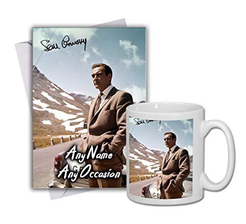 Sean Connery - 007 - James Bond - Goldfinger 4 Personalised Card and Mug (Christmas, Birthday, Xmas)