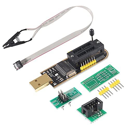 AiTrip SOIC8 SOP8 Test Clip For EEPROM 93CXX / 25CXX / 24CXX + CH341A 24 25 Series EEPROM Flash BIOS USB Programmer Module (SB Programmer+SOP8 Clip+Adapter)