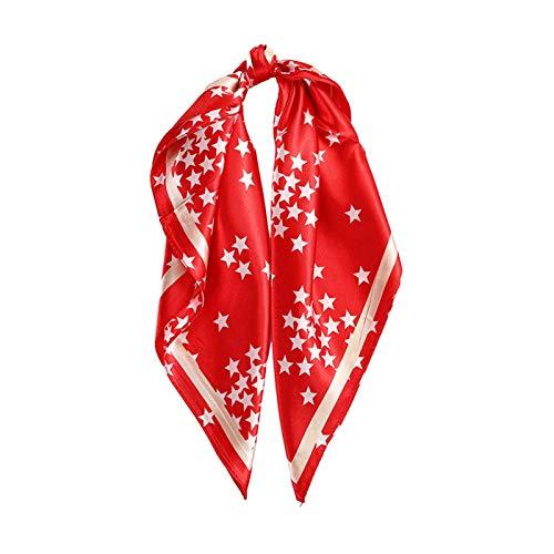 JCNVT Moda Suave Bufanda de Seda Cuadrada, Banda de Pelo, Ramo de Moda para Mujer, Banda de Pelo, Accesorios de Banda de Pelo, Damas Bandana Bandana Bufanda para decoración (Color : 60CM 75 A)