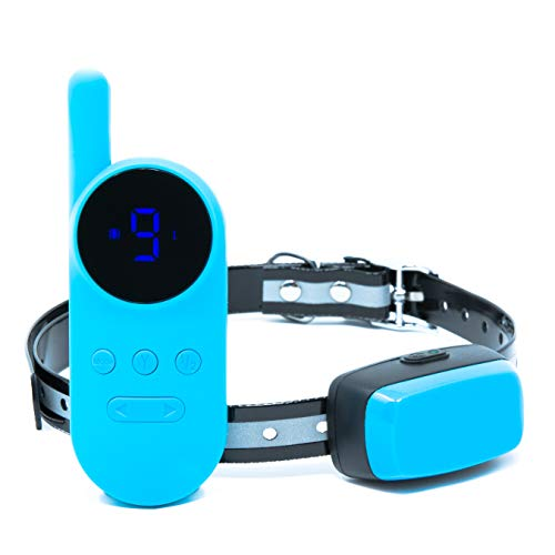 Shock Collar for Dogs (2020 Upgrade) - Rechargeable Dog Shock Collar with Remote for Small, Medium & Large Dogs - Long Range (1000ft) Waterproof Dog Training Collar w/ LED Screen - Vibration, Beep & S