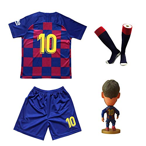 RIKPR Kids Soccer Jersey Youth with Name Football Shirt with Dolls and Socks Birthday Gifts Boys