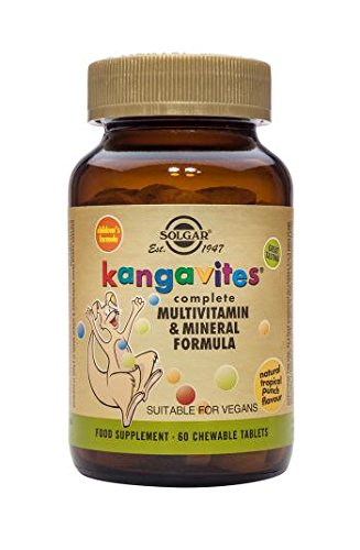 Solgar Kangavites Multivitamin & Mineral Chewable Tablets Tropical Punch, 120