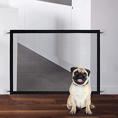 Barriera di Sicurezza Estensibile HAMON 72 * 110cm Cancello per Cani Guardia di Sicurezza per Animali Domestici Barriera per Cani Portatile per Porte Della Cucina Scale Balconi