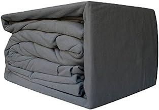 Ramesses 100% Egyptian Cotton Flannelette Sheet Set Charcoal | Single Bed