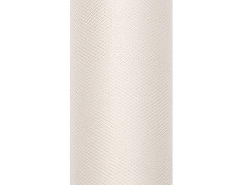 Like a Girl- wir lieben Hochzeiten 15cm breit / 9m lang Tüllstoff (Creme)