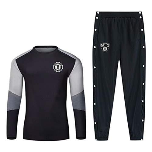 YDYL-LI Juego De Chándal Uniforme De Camiseta De Baloncesto - Brooklyn Nets Sportswear Traje De Costura Color Pullover Sudadera Entrenamiento Sweetpants Fan Jerseys,S