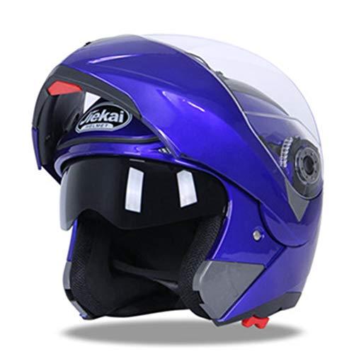 Motesen Caschi da moto modulari per uomo Silenzioso casco da motociclista Flip Up Doppia lente Antiappannamento Casco da moto integrale classico di sicurezza
