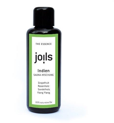 JOILS Sauna-Aufguss INDIEN, naturrein, 50ml, 100% naturreines Öl für Ihre Sauna, Saunaöl, ätherisch und biologisch