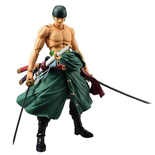One Piece Roronoa Zoro Anime Figur Movable Animierte Charaktere Sammlung Modell Spielzeug PVC Action-Figuren 18cm Zoro (Farben-Kasten) Roronoa Zoro