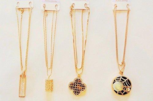 Fashion Partito Gioielli color oro catena lunga con ciondolo diamante collana in metallo vari * * Hot * * Design–1collana