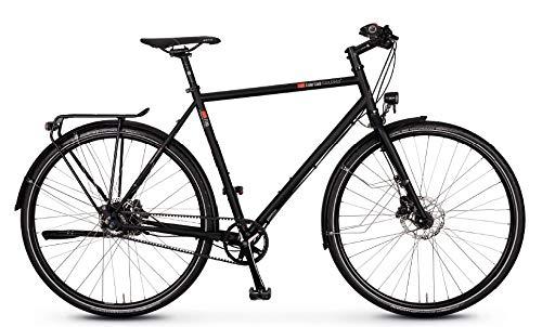 vsf - Bicicletta da trekking T-700 Shimano Alfine 11-G Disc 2020 (28' diamante 57 cm, Ebony opaco)
