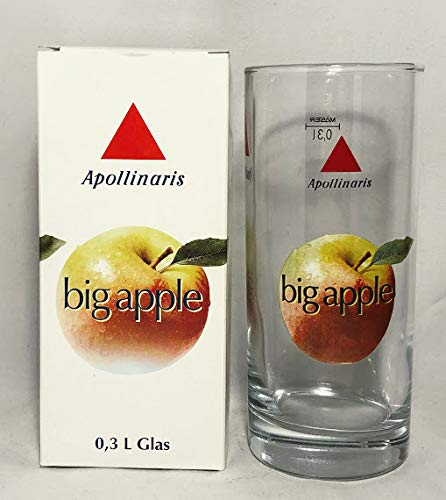 Apollinaris Gläser 0,3 Big Apple/Glas/Trinkglass/Wasserglas/Sammlergläser / 6er Set