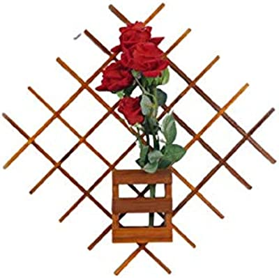 AVIS Wooden Art Wall Flower Stand for Wall and Beautiful Wall Decoration