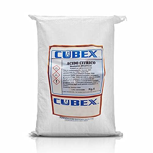 cubex professional ACIDO CITRICO in confezione da 5 kg per pulizie ecologiche ed a basso impatto ambientale