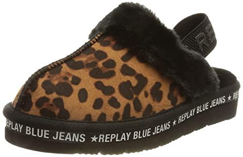 Replay Muddy-LYBERTVILLE, Pantuflas Mujer, 1367 Leopard, 40 EU