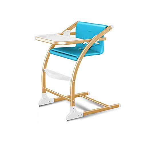MYRCLMY Baby Esszimmerstuhl Kinder Dining Chair Multifunktionale tragbare Kinderstuhl Essen Dinette Sitzstuhl Schaukelstuhl,Blau